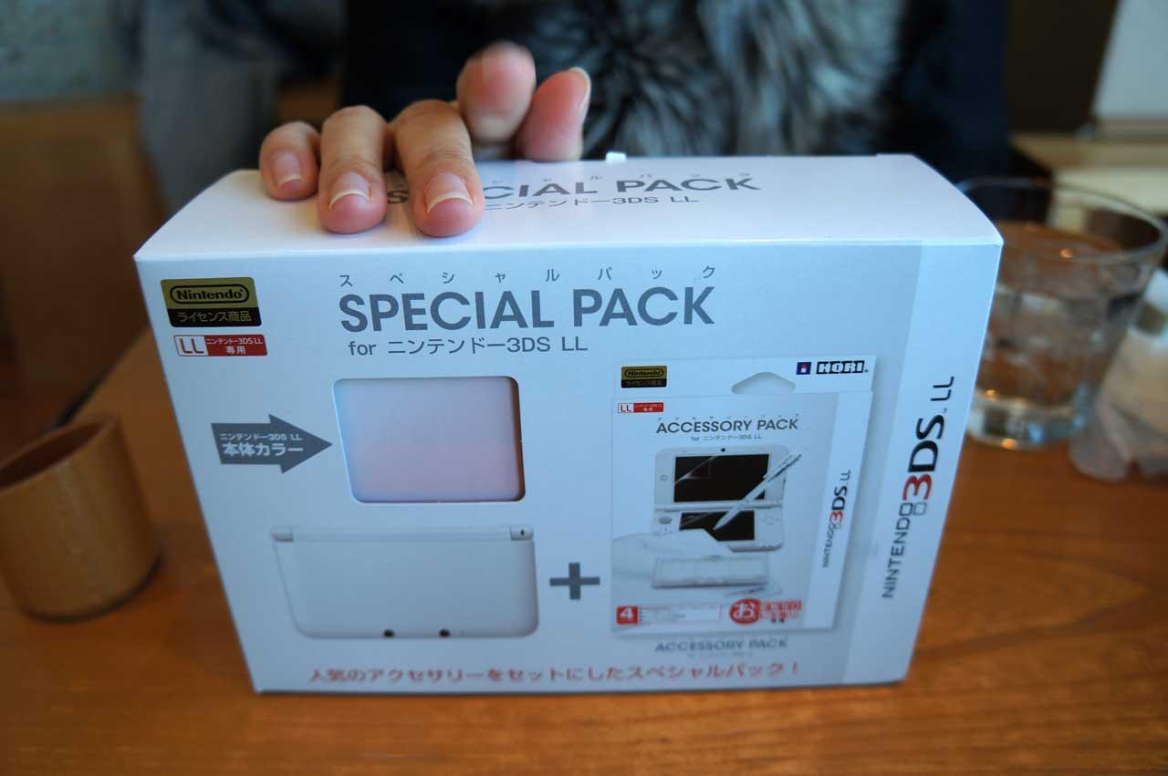 ニンテンドー3DS LL ピンクXホワイト スペシャルパック