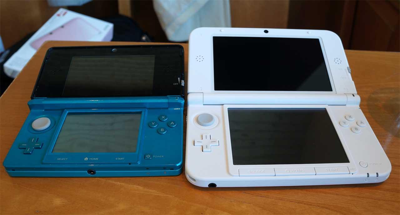 ニンテンドー3DS LL ピンクXホワイト比較