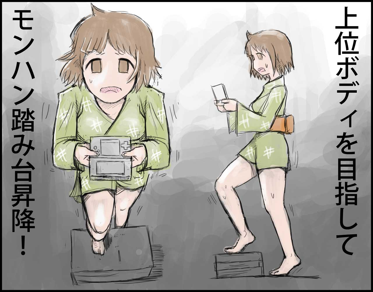 姫子さん式モンハン踏み台昇降運動