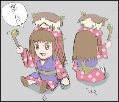姫子さんのゲーム天守閣!-姫子ペーパークラフト図案