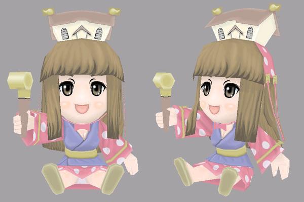 姫子さんのゲーム天守閣!-ペーパークラフト 完成モデル