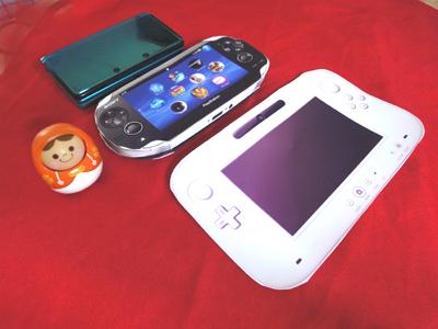 姫子さんのゲーム天守閣!-WiiUサイズ比較 3DS PSV WiiU