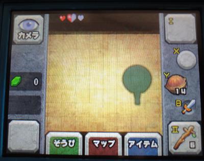 姫子さんのゲーム天守閣!-3DSゼルダタッチ画面.